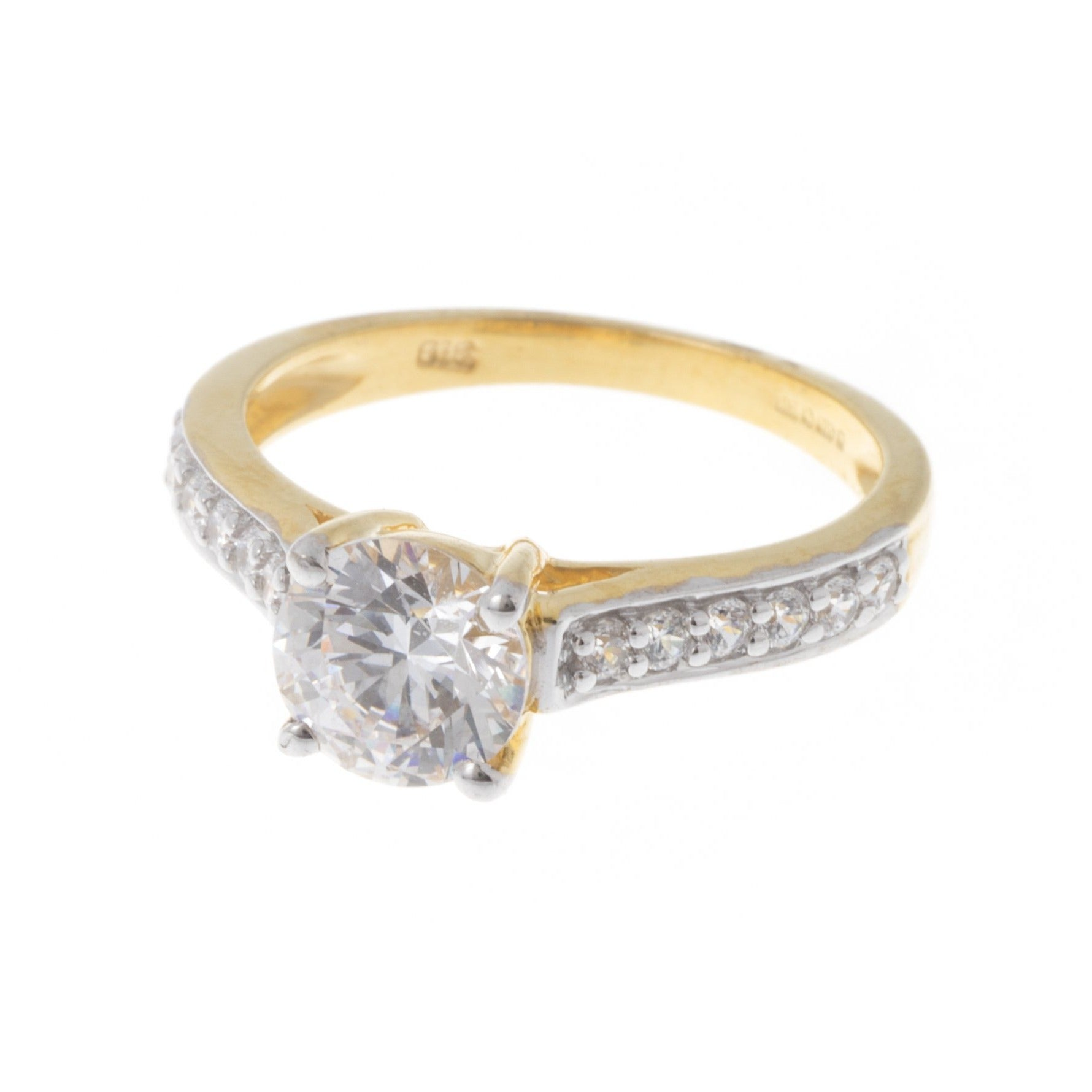 22ct Gold Cubic Zirconia Engagement Ring set with Swarovski Zirconias VLR031