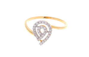 22ct Yellow Gold Cubic Zirconia Dress Ring (VLR053)