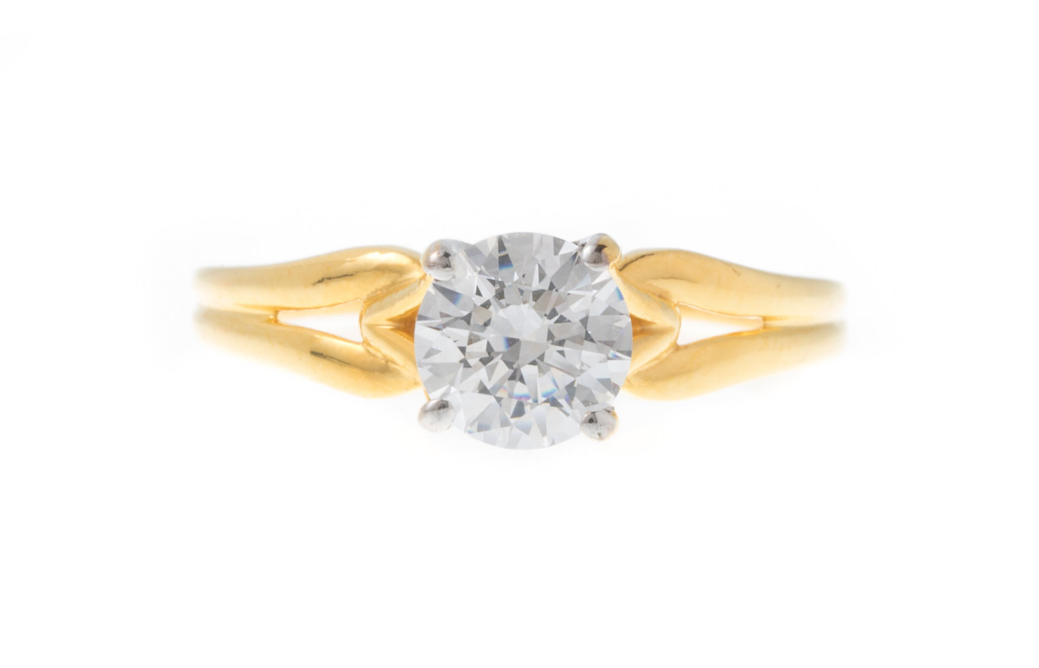 22ct Gold Cubic Zirconia Engagement Ring set with a Swarovski Zirconia (3.38g) VLR266