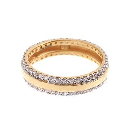 22ct Gold Cubic Zirconia Wedding Band VLR379