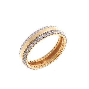22ct Yellow Gold Cubic Zirconia Wedding Band (VLR379)