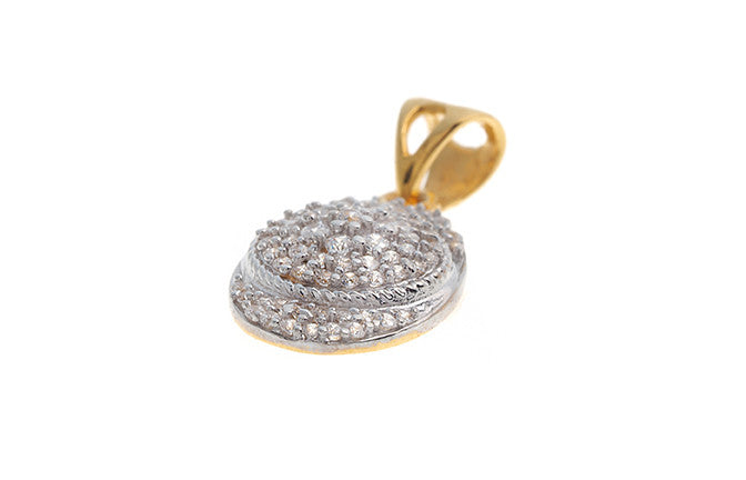 22ct Yellow Gold Cubic Zirconia Fancy Pendant (VP015)