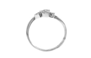 Platinum Diamond Trilogy Ring (Y3634)