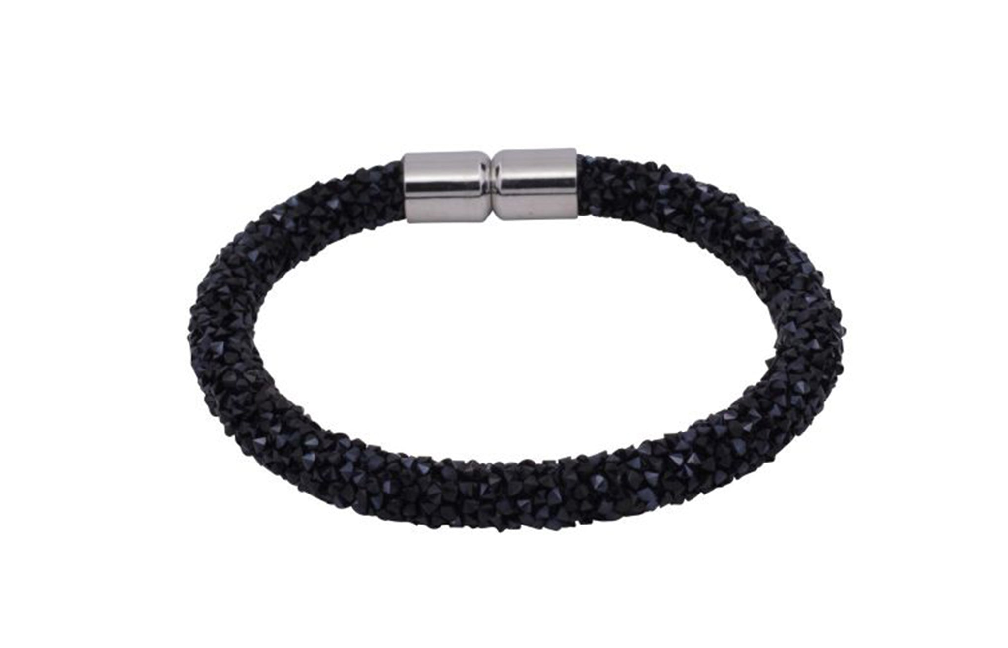 Black Crystal Magnetic Fashion Bracelet 1396A