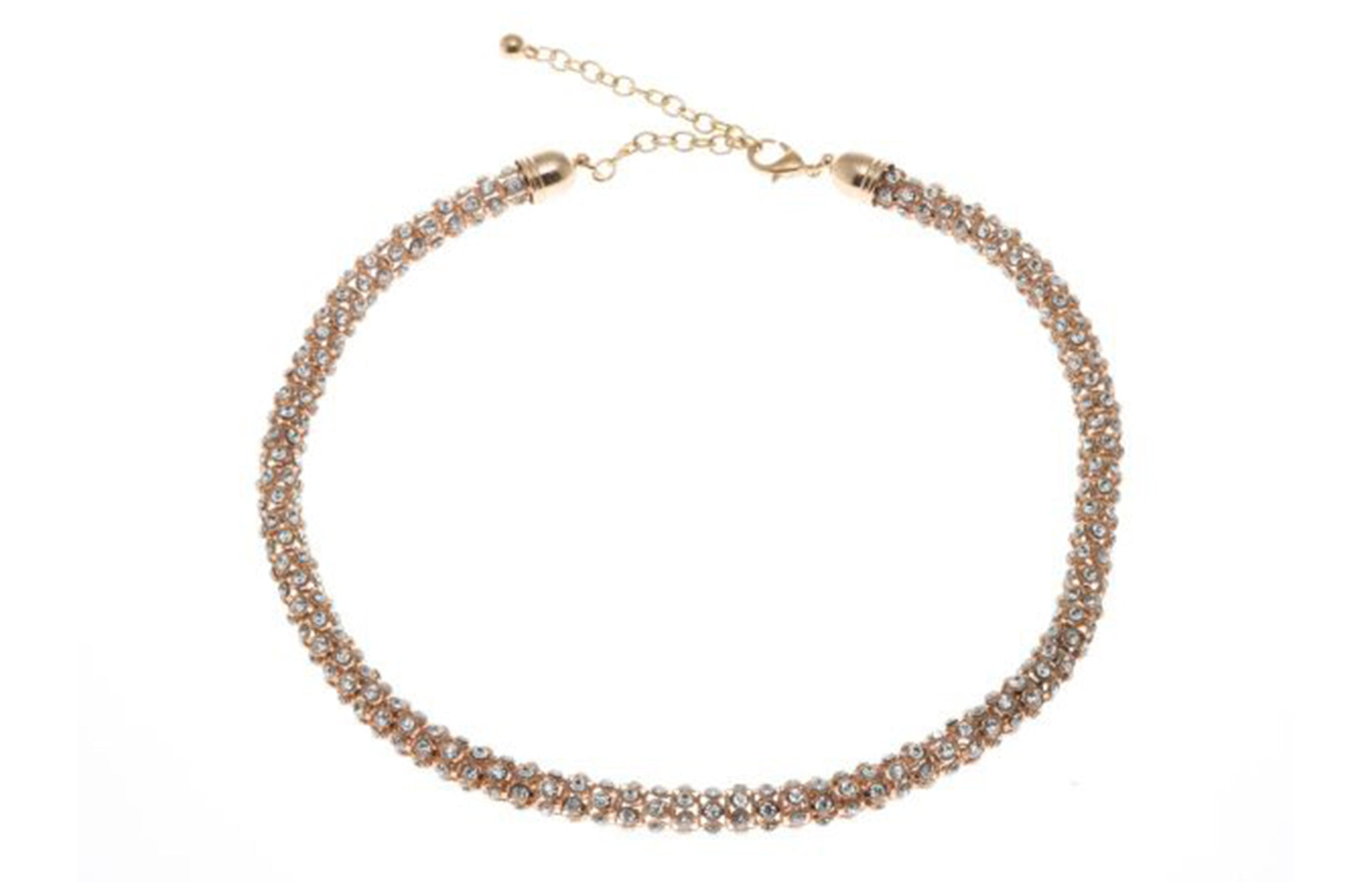 Rose Gold Plated Crystal Magnetic Fashion Necklace 0511G