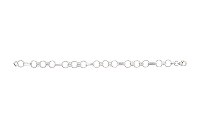 Sterling Silver Fancy Link Bracelet with Lobster Clasp SBR008B (online price only)