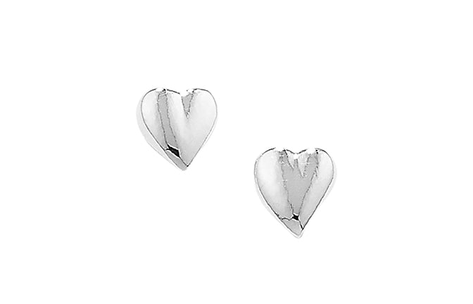 Sterling Silver Heart Earrings SE0049