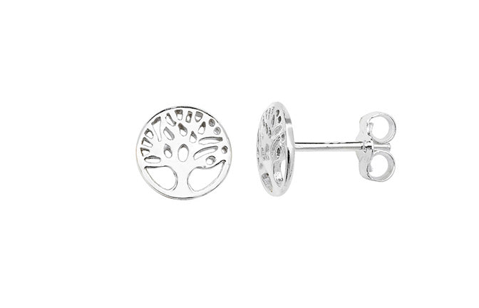 Sterling Silver Tree of Life Earrings SE455B