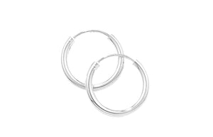 Sterling Silver 18mm Sleeper Hoop Earrings SE688A