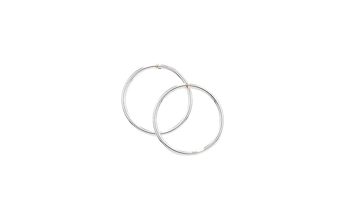 Sterling Silver 12mm Hoop Earrings SE694A