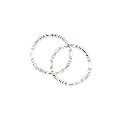 Sterling Silver 10mm Hoop Earrings SE695A