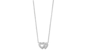 Sterling Silver Double Heart Necklace SN203B