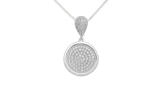 Sterling Silver Cubic Zirconia Pendant SP109C