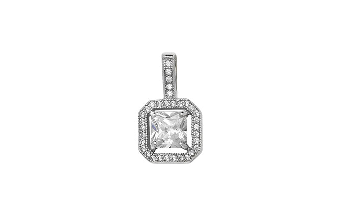 Sterling Silver Cubic Zirconia Pendant SP146C