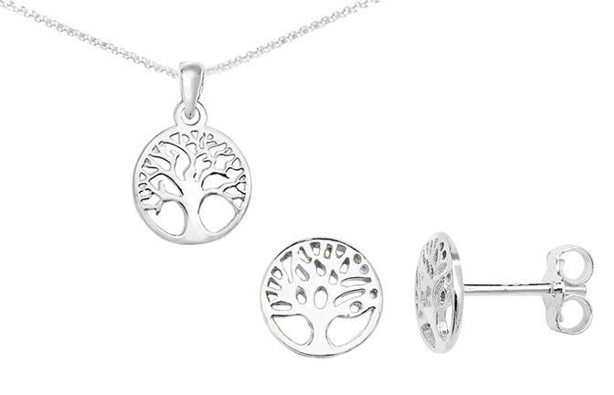 Sterling Silver Tree of Life Pendant SP151C