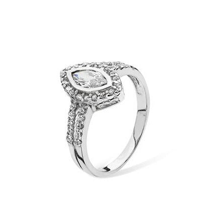 Sterling Silver Cubic Zirconia Ring SR063A