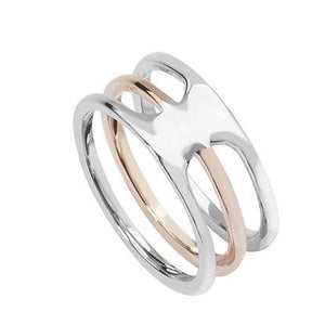 Gold Plated Sterling Silver Triple Dress Ring (SR232A)
