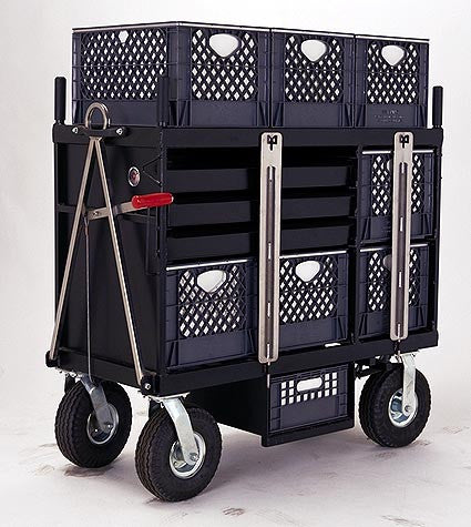 BACKSTAGE 4-Crate Set Box Cart - Horizontal