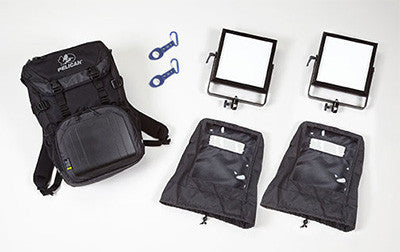 ROSCO 2-Head LitePad Vector Backpack Kit CCT Variable Color