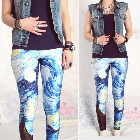 Starry Night leggings outfit ideas