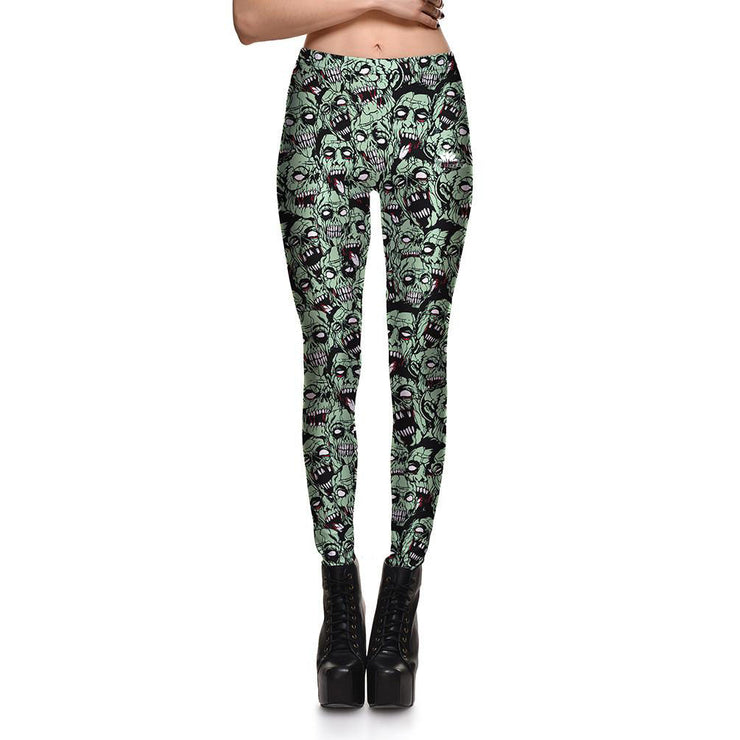 Head's Up Zombies Leggings