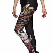 SUGAR SKULL ATHLETIC LEGGINGS
