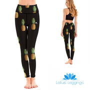 LotusX™ Black Pineapple Leggings