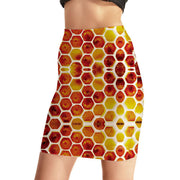 Sweet Honeycomb Bodycon Skirt