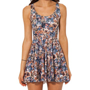 CRAZY CAT REVERSIBLE SKATER DRESS