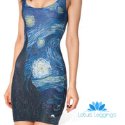 STARRY NIGHT SLEEVELESS DRESS