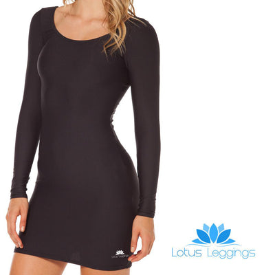 MATTE BLACK LONG SLEEVE DRESS