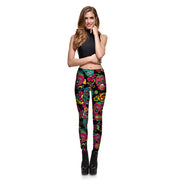 Teal Sugar Skulls Leggings