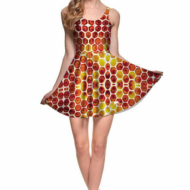HONEY COMB SKATER DRESS