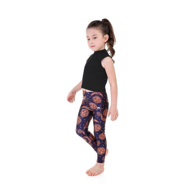 Kid's Sun and Moon Leggings
