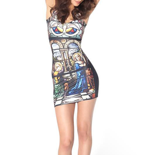 STAINED GLASS SLEEVELESS DRESS