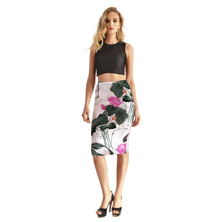 Delicate Nature Pencil Skirt