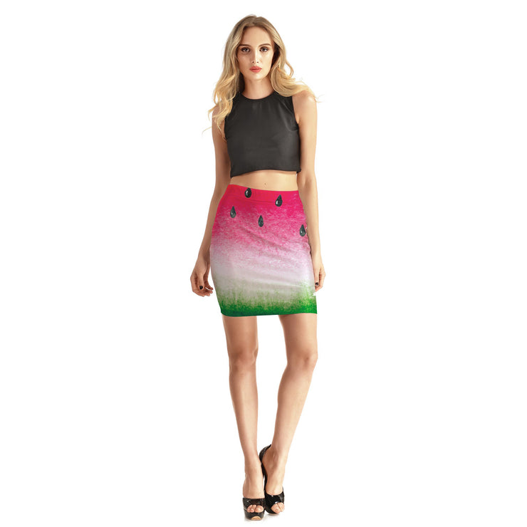 Watermelon Bodycon Skirt