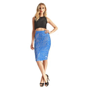 Penciled Flowers Pencil Skirt