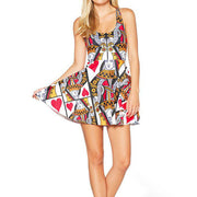 QUEEN OF HEARTS SKATER DRESS