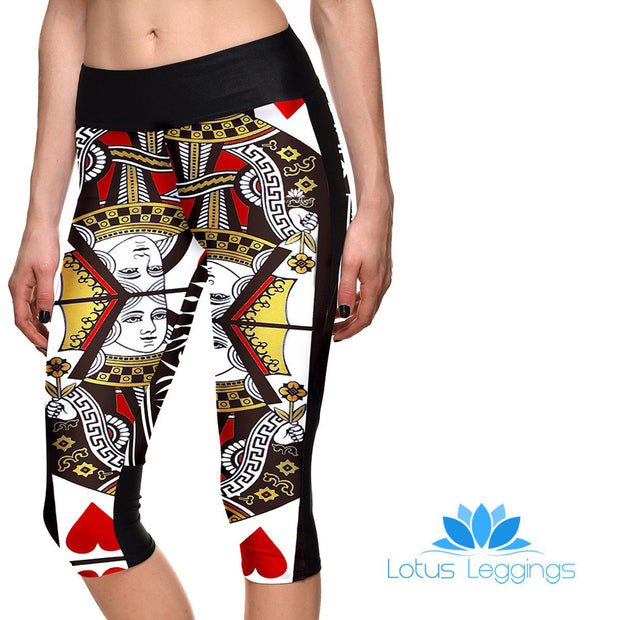 QUEEN OF HEARTS ATHLETIC CAPRI