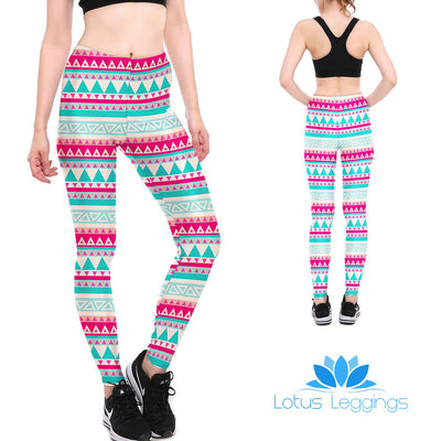 Tribal Teal Leggings