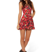 STRAWBERRY REVERSIBLE SKATER DRESS