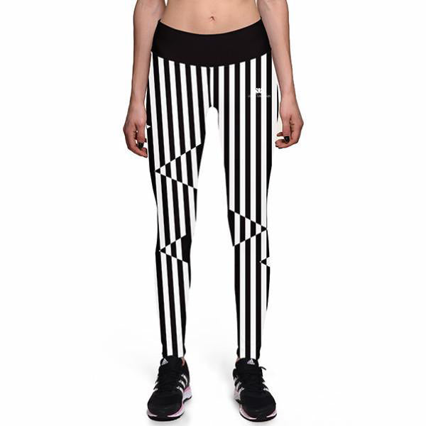 ILLUSION STRIPES ATHLETIC LEGGINGS