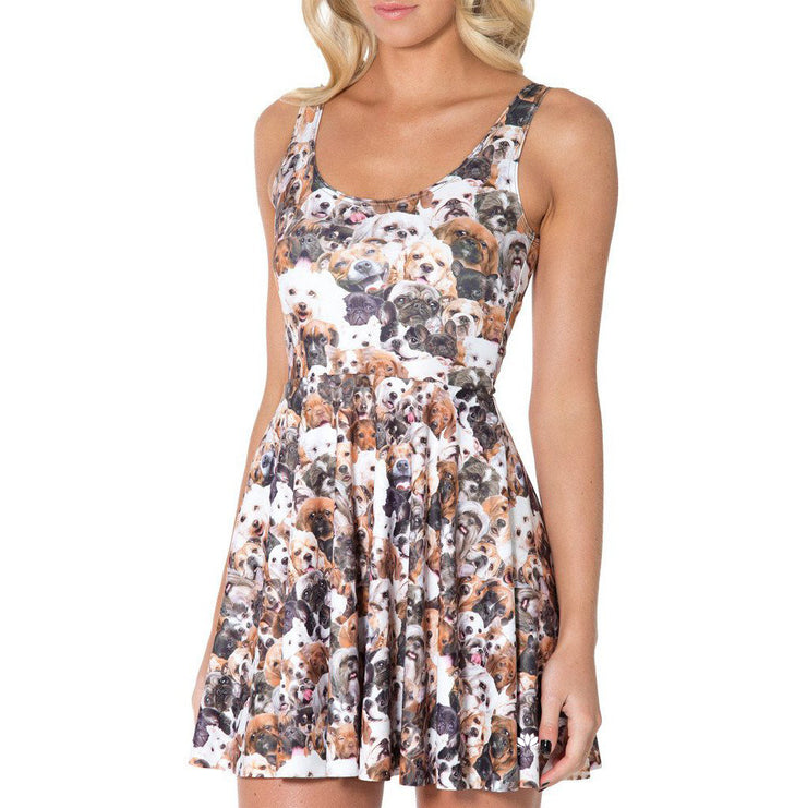 SHOW ME YOUR PUPPIES REVERSIBLE SKATER DRESS