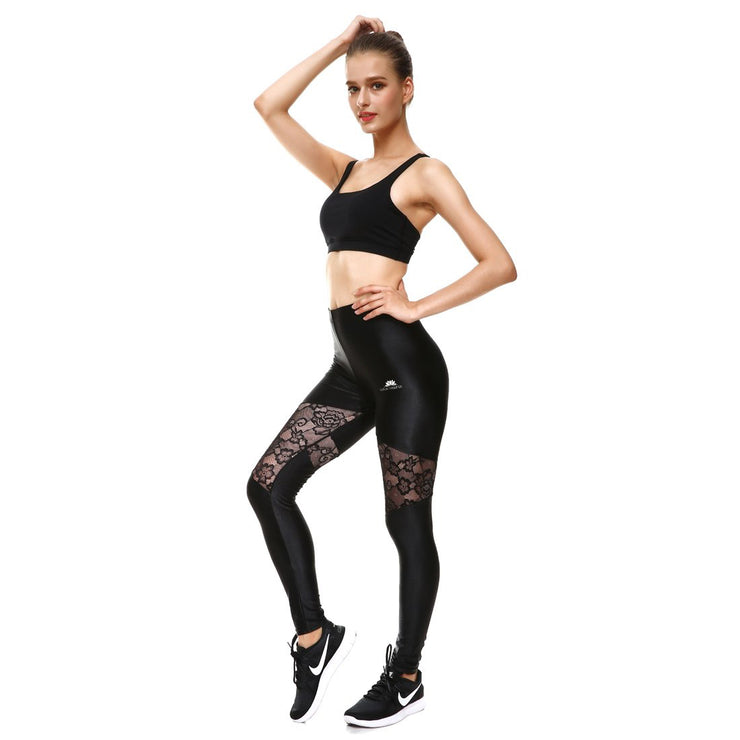 Blackout Floral Mesh Leggings