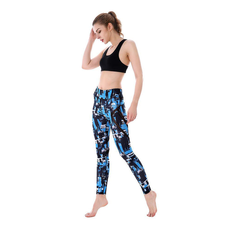 Blue Strokes MaxPerformance Leggings