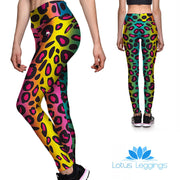 Rainbow Leopard Athletic Leggings