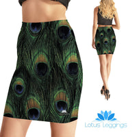 Lovely Feather Bodycon Skirt