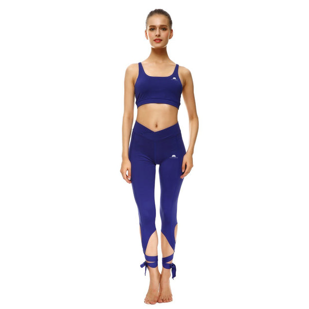Bold Blue Tie-Up Leggings