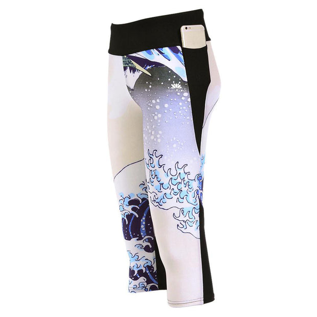 THE GREAT WAVE ATHLETIC CAPRI